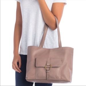 NWT Frye Madison Front Pocket Leather Tote